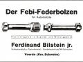 Werbeanzeige für den febi Federbolzen (um 1925)