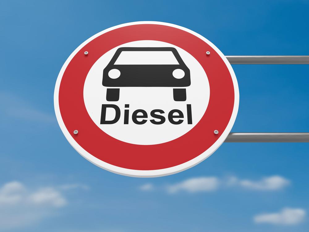 Dieselfahrverbotsschild