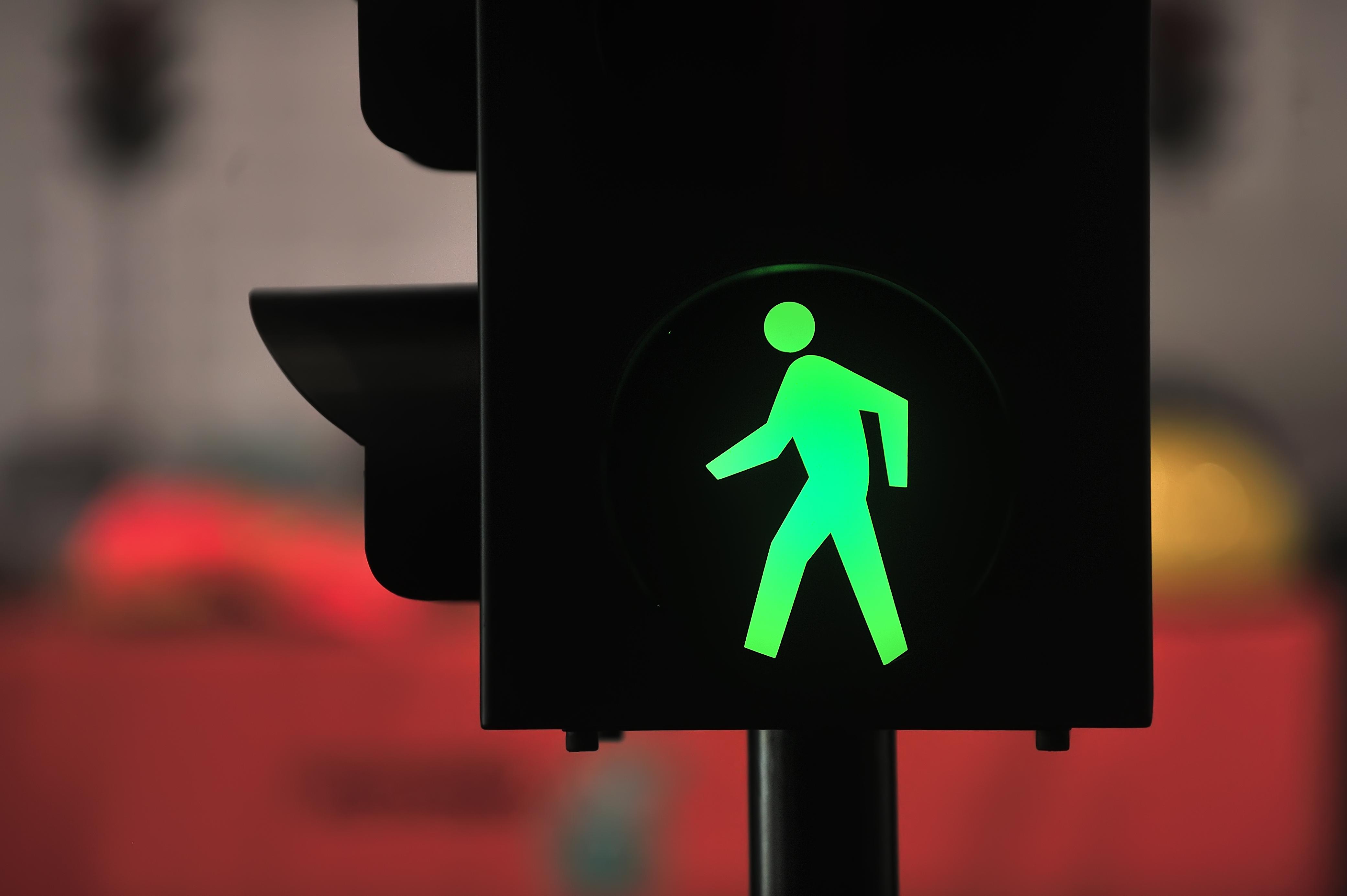 Vorrang für Fußgänger