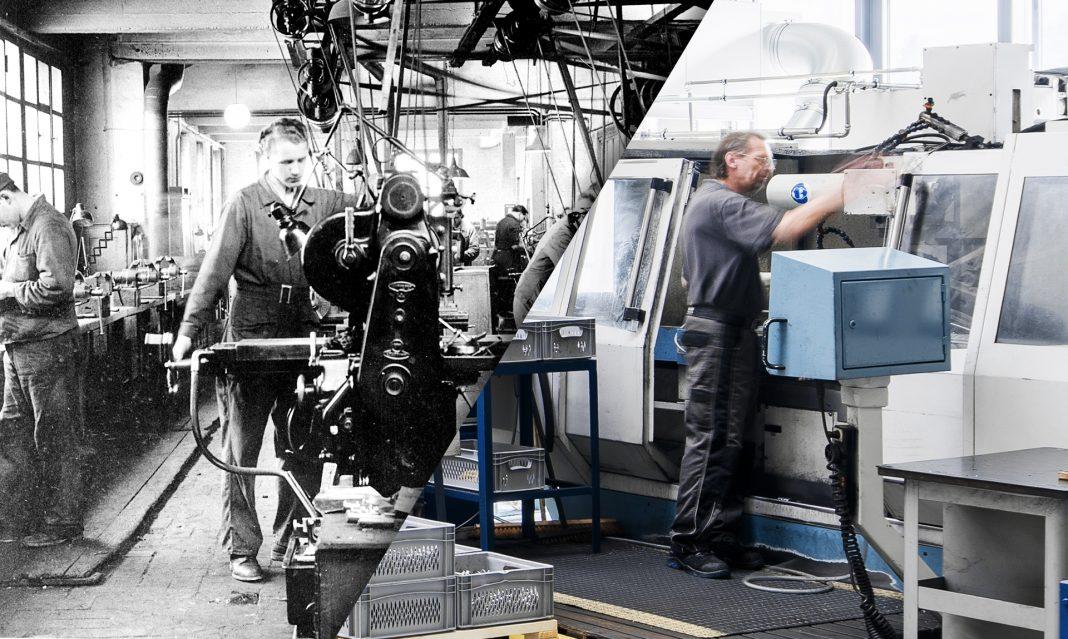 Produktion in den 1950er-Jahren und heute