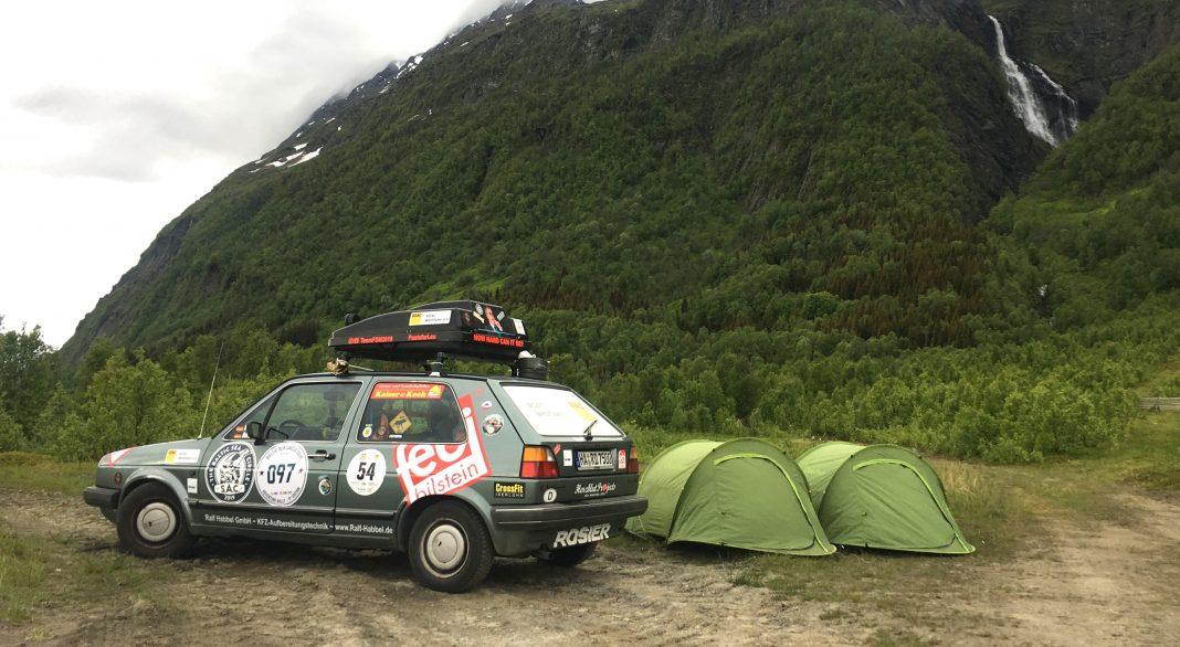 Der Golf unterwegs in Norwegen