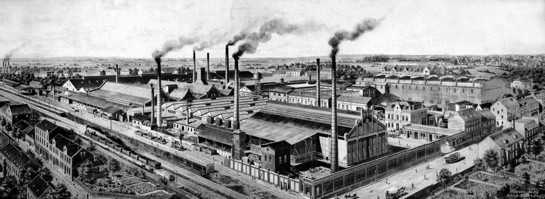 Werksansicht des Schalker Gruben- und Hüttenvereins 1903 - Bild: Stadt Gelsenkirchen, Institut für Stadtgeschichte