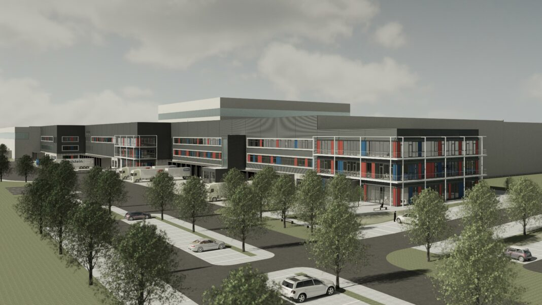 So grün wird das geplante Logistikzentrum der bilstein group.